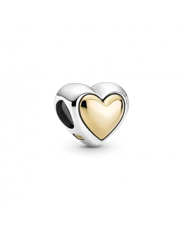 Charm con cuore dorato a cupola