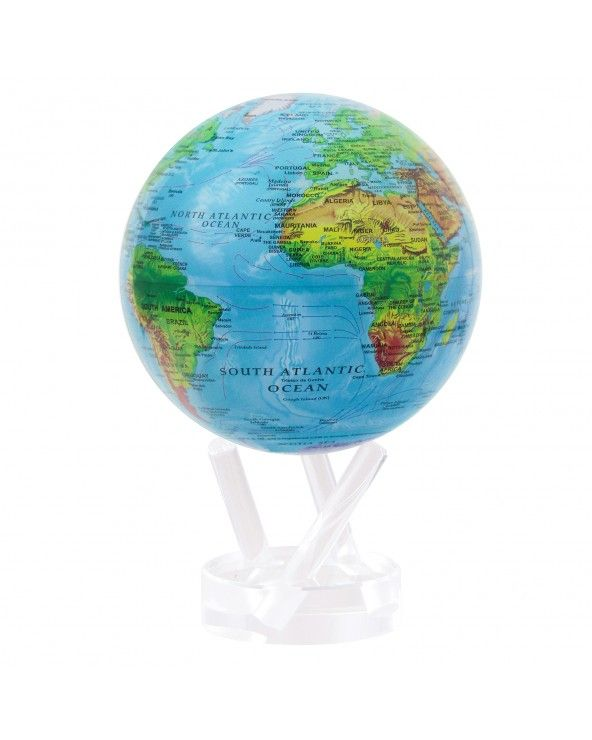 """MOVA GLOBE Mova globo 4,5"""" mappa fisica c/base acrilico"""