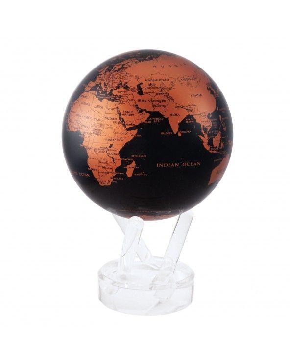 "MOVA GLOBE Mova globo 4,5"" mappa rame e nero c/base acrilico"