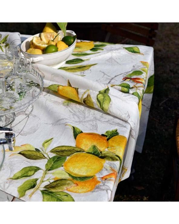 Tessitura Toscana Telerie Tovaglia Limoncello