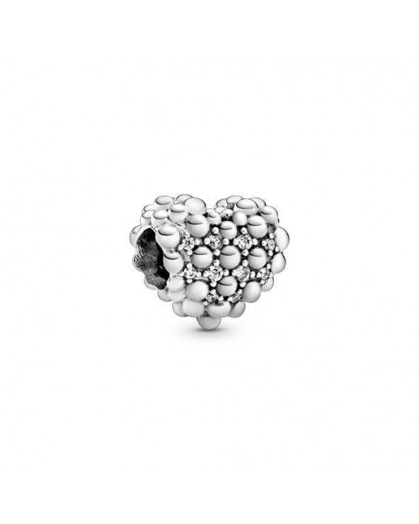 Charm a cuore scintillante decorato con sfere Purely Pandora