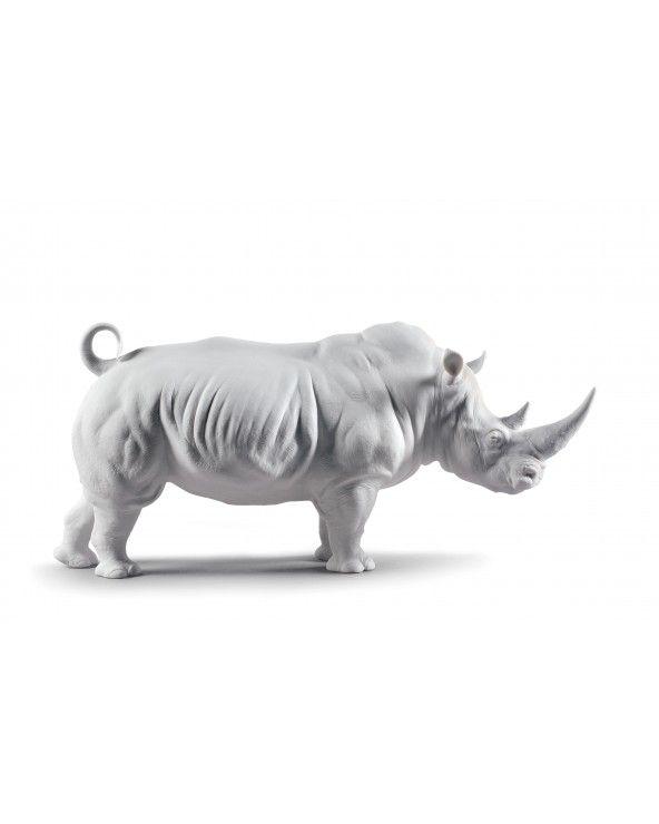 Figurina Rinoceronte bianco Mate