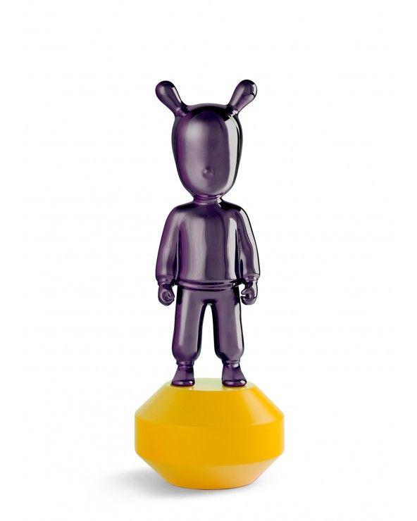 Figurina The Guest Little - viola su giallo