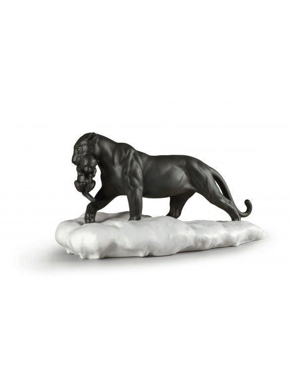 Figurina Pantera nera con cucciolo