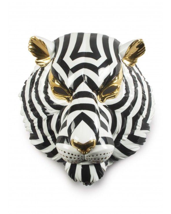 Maschera Tigre (nero-or)