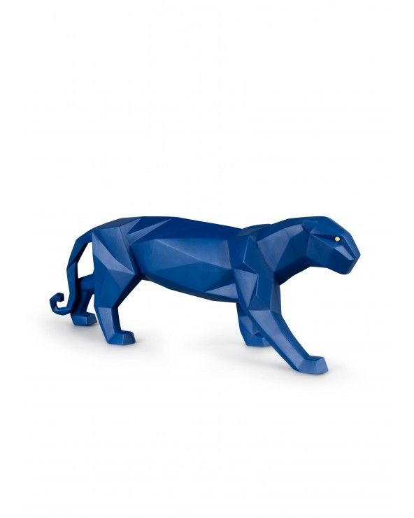 Figurina Pantera. Azzurro opaco