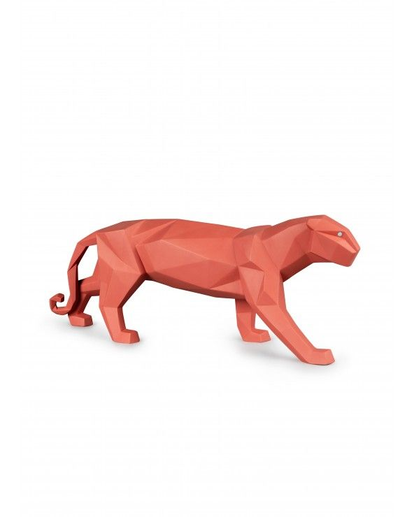 Figurina Pantera. Corallo opaco