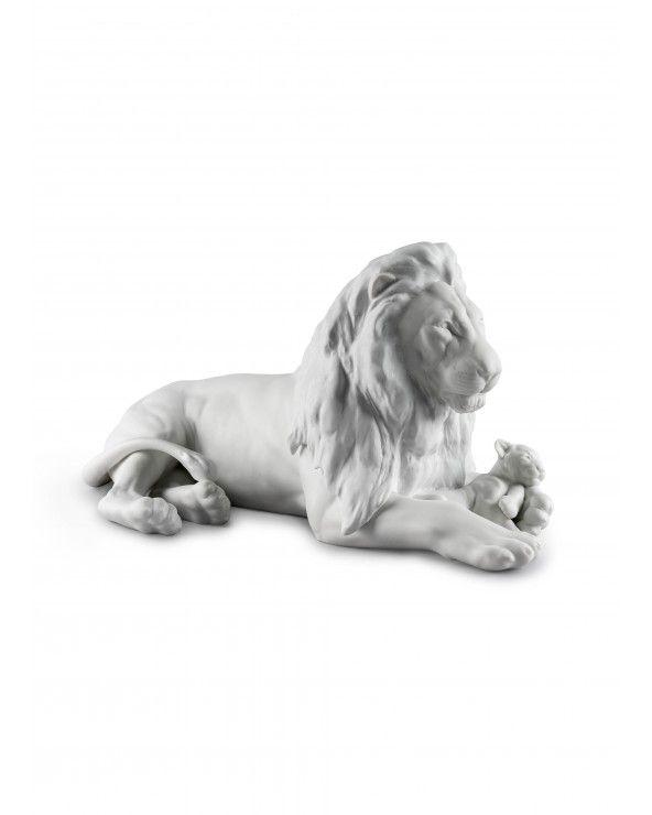 Figurina Leone con cucciolo