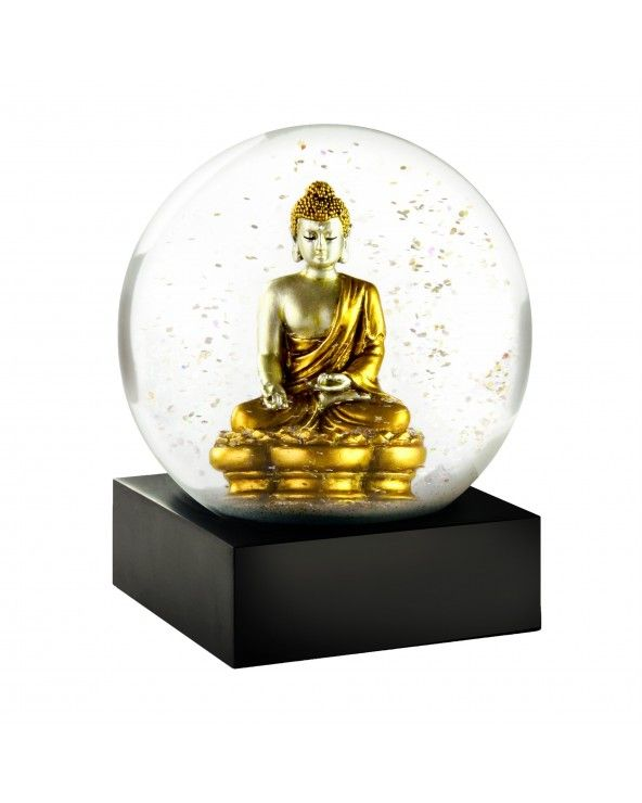 Cool Snow Globes Snow globe buddha gold