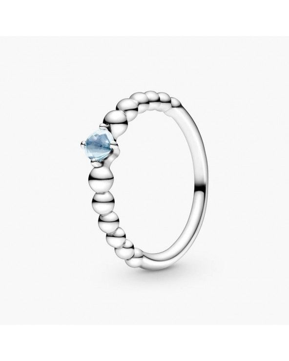 Pandora Anello azzurro acqua decorato con sfere