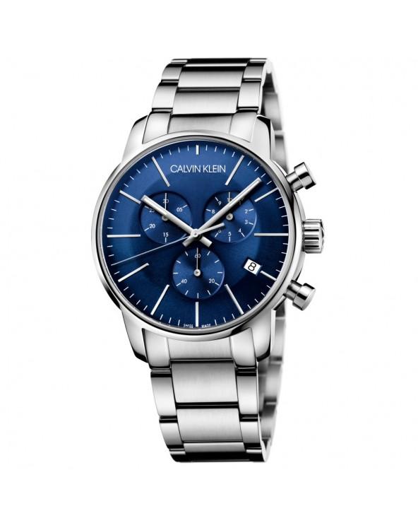 Calvin Klein Orologio cronografo uomo city acciaio quadrante blu