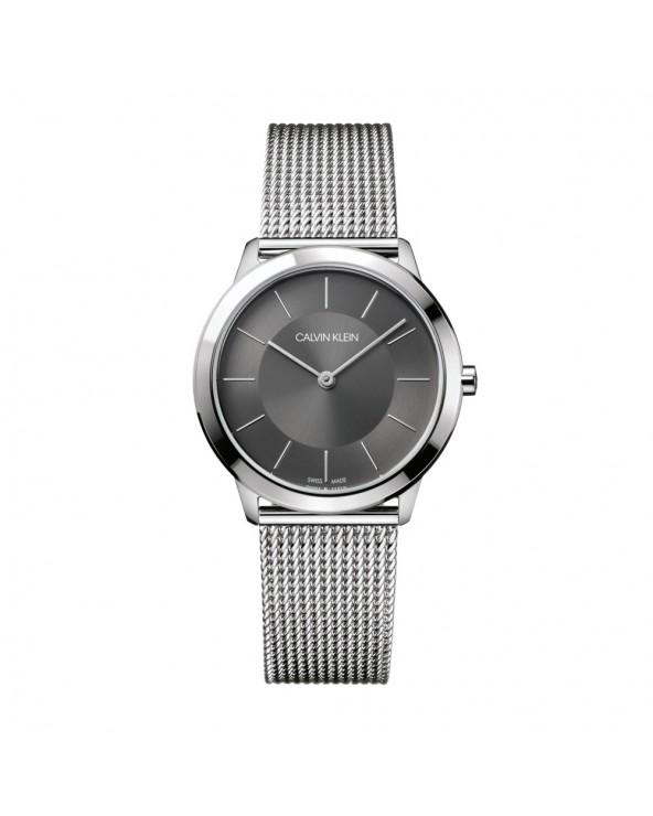 Calvin Klein Orologio minimal unisex acciaio quadrante grigio