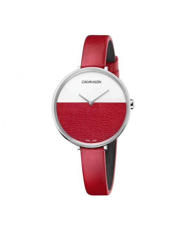 Calvin Klein Orologio rise donna acciaio cinturino in pelle
