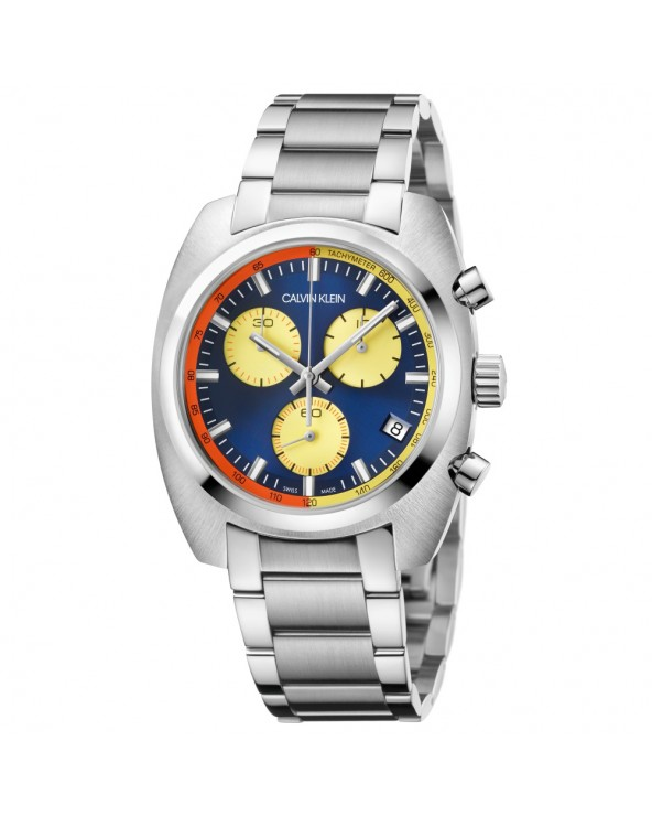 Calvin Klein Orologio cronografo uomo achieve acciaio quadrante