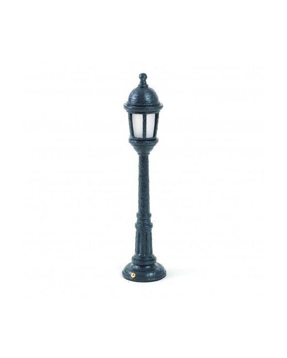 """Seletti Lampada da tavolo nera """"street lamp"""""""