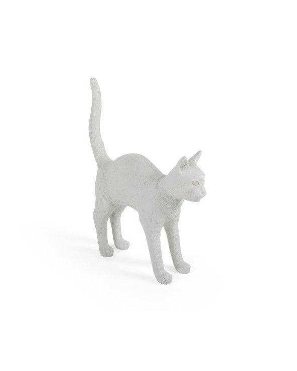 Seletti Lampada da tavolo bianca jobby the cat