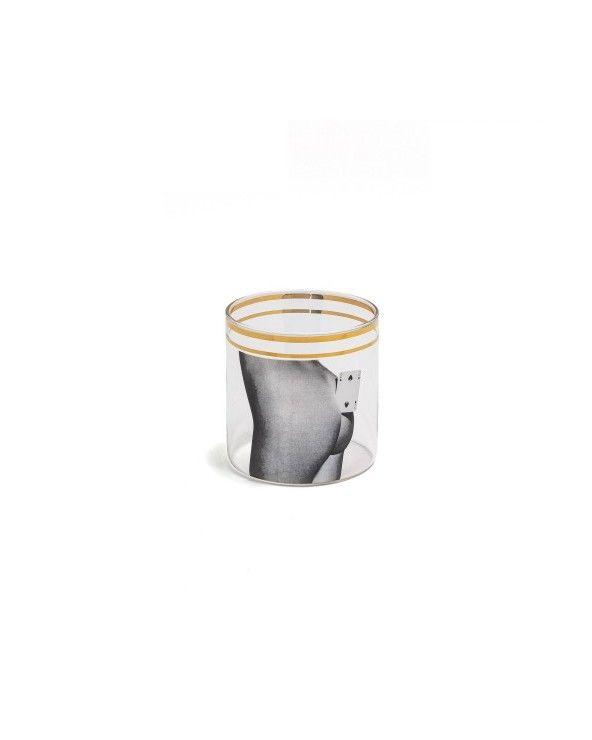 Seletti Bicchiere acqua toiletpaper two of spades