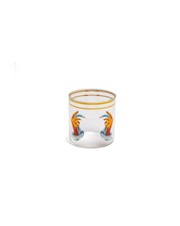 Seletti Bicchiere acqua toiletpaper hands with snakes