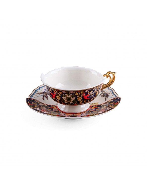 Seletti Tazza da tè con piattino hybrid kannauj