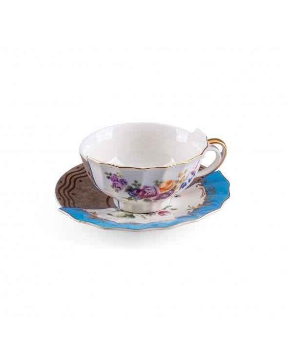 Seletti Tazza da tè con piattino hybrid kerma