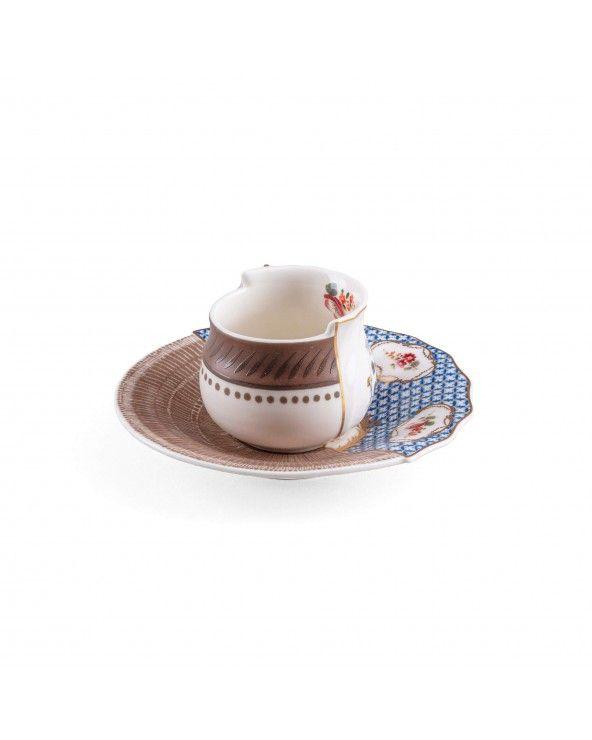 Seletti Tazzina da caffè con piattino hybrid djenne