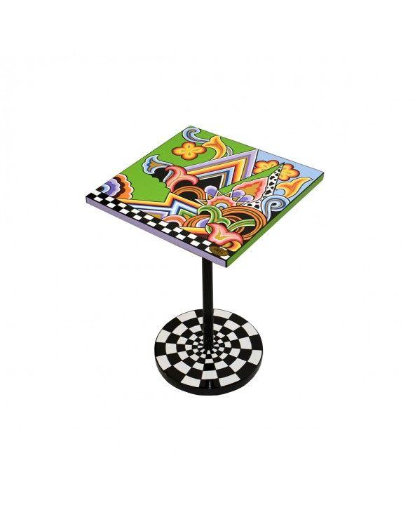 Toms Company Tavolino,disegno grafico 35x35 h51cm