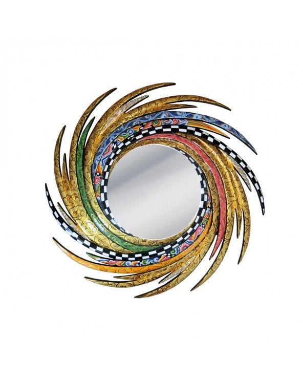 Toms Company Specchio energy m, oro diam. 70 cm