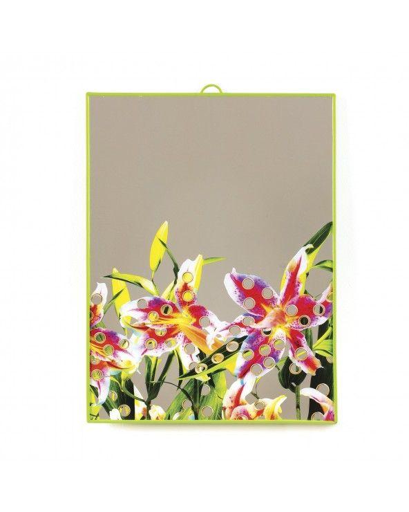 Seletti Specchio grande toiletpaper flowers with holes
