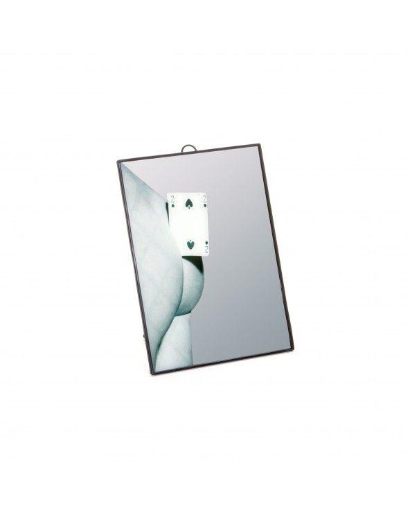 Seletti Specchio piccolo toiletpaper two of spades