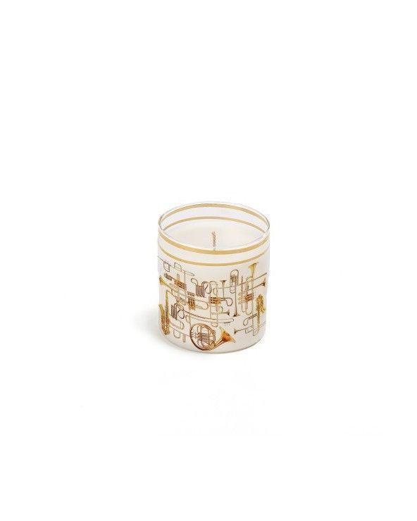 Seletti Candela in vetro toiletpaper trumpets