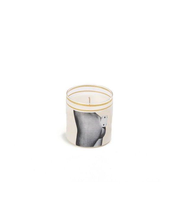 Seletti Candela in vetro toiletpaper two of spades