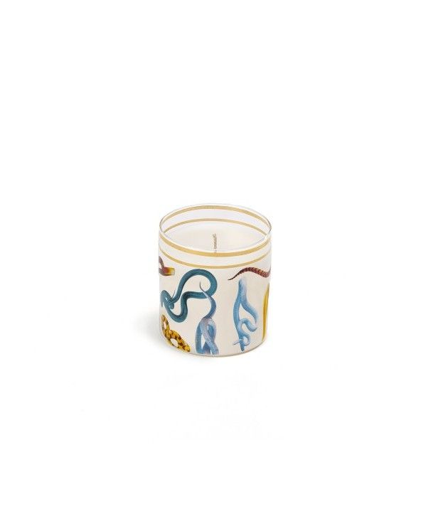 Seletti Candela in vetro toiletpaper snakes
