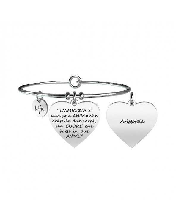 Bracciale Love L'Amicizia È Una Sola Anima … Aristotele