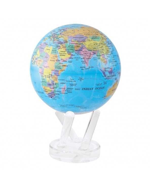 """MOVA GLOBE Mova globo 6"""" mappa politica blu c/base"""