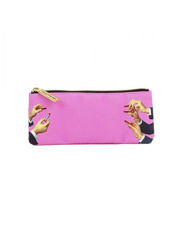 Seletti Astuccio toiletpaper lipsticks pink