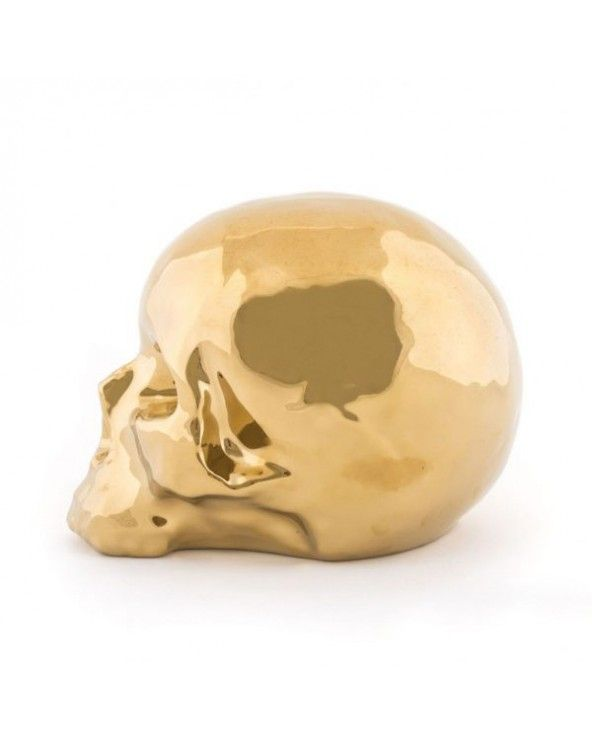 """Seletti """"il mio teschio"""" oro memorabilia"""