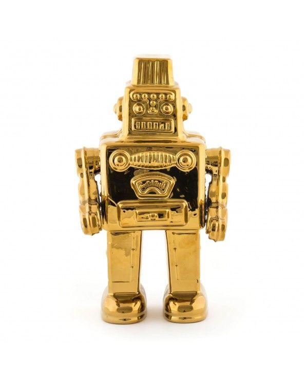 """Seletti """"il mio robot"""" oro memorabilia"""