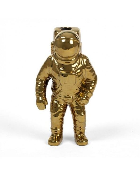 Seletti Vaso astronauta cosmic diner oro