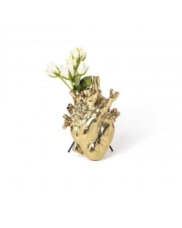 Seletti Vaso love in bloom oro