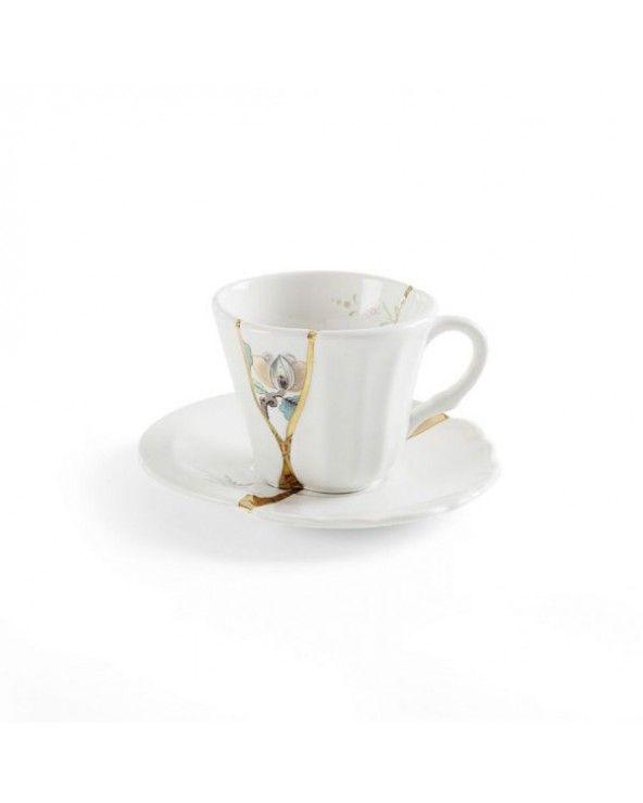 Seletti Tazzina caffè con piattino kintsugi-n'3
