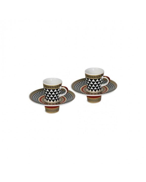 Baci Milano Set 2 tazzine caffè minimal nero