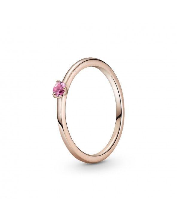 Pandora Anello con solitario rosa