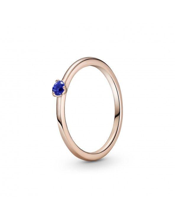 Pandora Anello con solitario blu