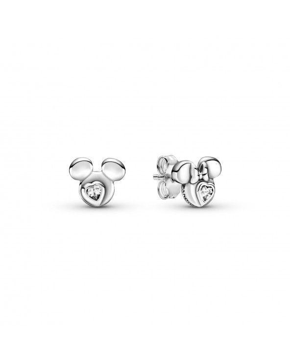 Disney, orecchini a lobo Silhouette Mickey Mouse e Minnie